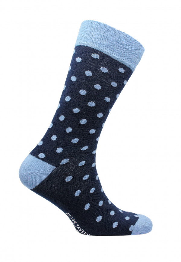 St Ives Navy with Blue Spot Sock