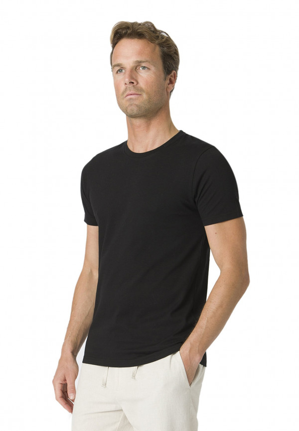 Dean Black Cotton T-Shirt
