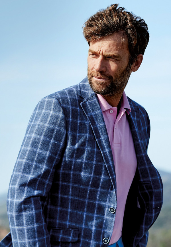 Leyburn Blue Check Jacket