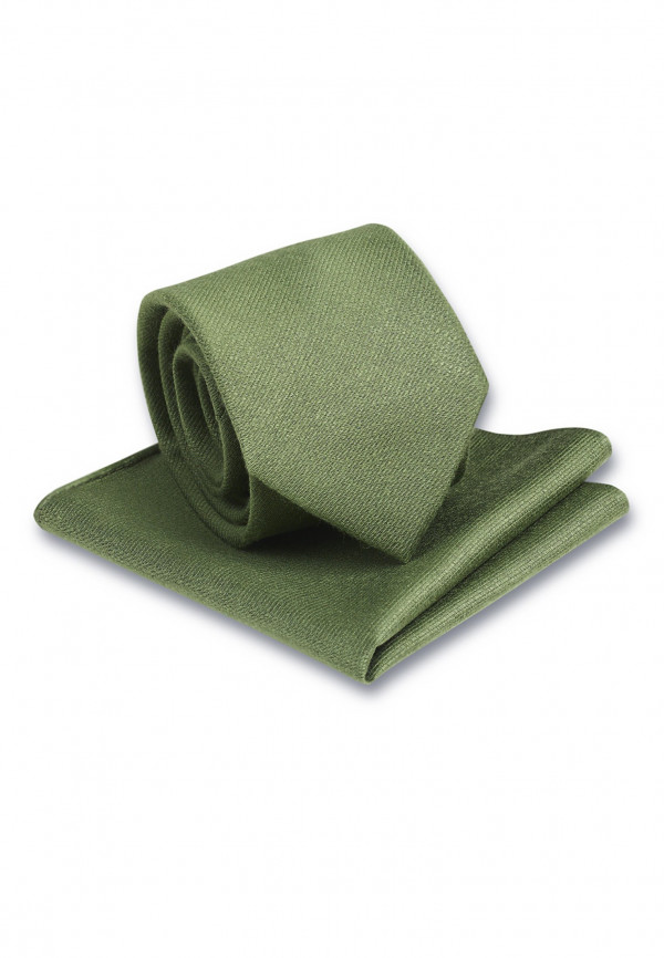 Plain Moss Hanky And Tie Set