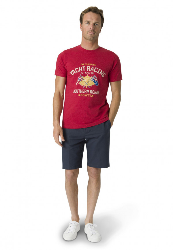 Wilton Red Nautical Print T-Shirt