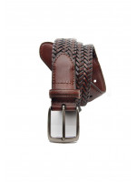 Brown Plaited Spanish Leather belt
