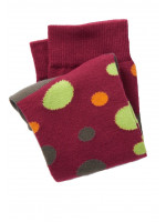 Red With Green And Orange Spot Short Sock