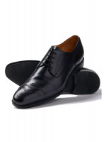 Black Henderson Shoe With Rubber Sole