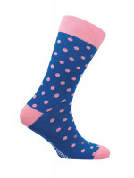St Ives Royal Blue with Pink Spot Sock