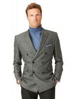 Royston Double Breasted Charcoal Check Suit Jacket