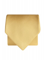 Plain Yellow Twill 100% Silk Tie