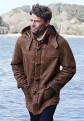 Leather Duffle Coat