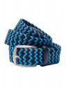 Navy And Sky Plaited Stretch Belt