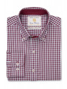 Wine and Blue Gingham Shirt