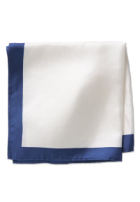 White 100% Silk Pocket Square