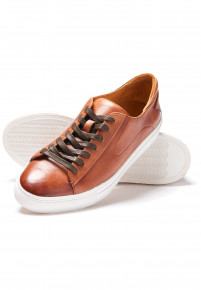 Cape Tan Sneakers With Rubber Sole