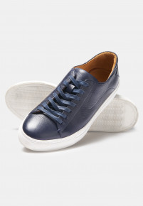 Cape Navy Sneakers With Rubber Sole