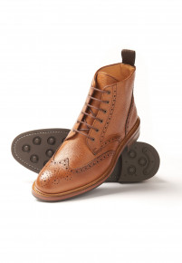 Tan Bourton Brogue Boot