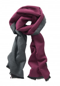 Wine and Charcoal Scarf