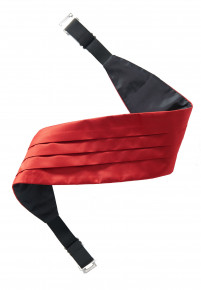 Plain Satin Red Cummerbund