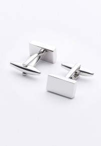 Rectangle Chrome Cufflinks