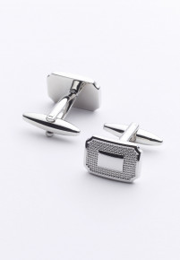Rectangle Pinhead Chrome Cufflinks