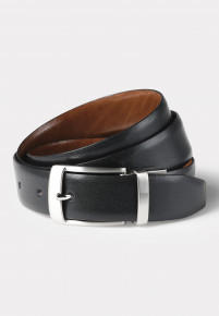 Truro Black and Tan Reversible Leather Belt