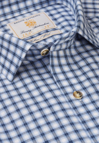 Blue with Winter White Shadow Check Shirt