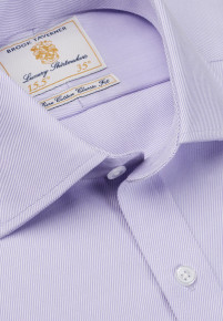 Single and Double Cuff Lilac Royal Twill 100% Easycare Cotton Shirt