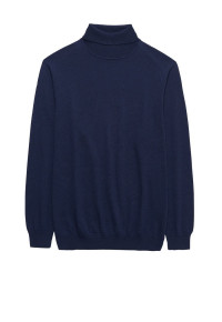Navy Arrow Roll Neck