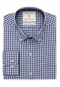 Navy and Blue Gingham Shirt