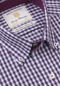 Purple and Blue Gingham Shirt
