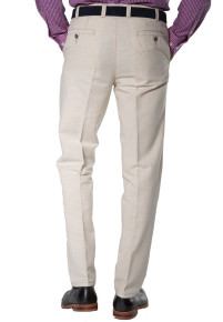 Stone Buckland Cotton Linen Tailored Fit Trouser