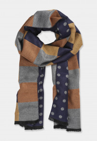 Double Faced Checks and Spots Scarf