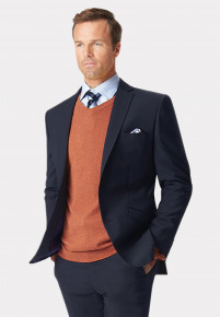 Navy Cassino Tailored Fit Washable Suit Jacket