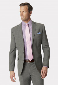 Grey Cassino Tailored Fit Washable Suit Jacket