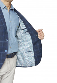 Chatto Fashion Fit Indigo Check Jacket