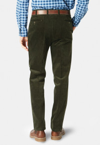 Olive Ellroy Cord Trousers