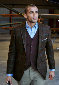 Fir Navy Check Jacket