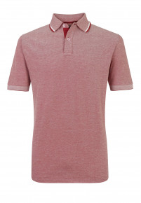 Red Menston 100% Cotton Pique Polo Shirt