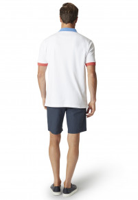 Oxshott White Jersey Interlock Polo Shirt