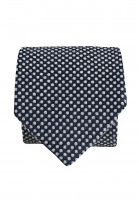 Navy And WhiteTextured Spot Tie