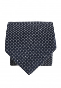 Navy And Charcoal Textured Spot Tie