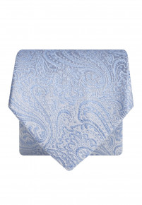 Blue Flower Silk Tie