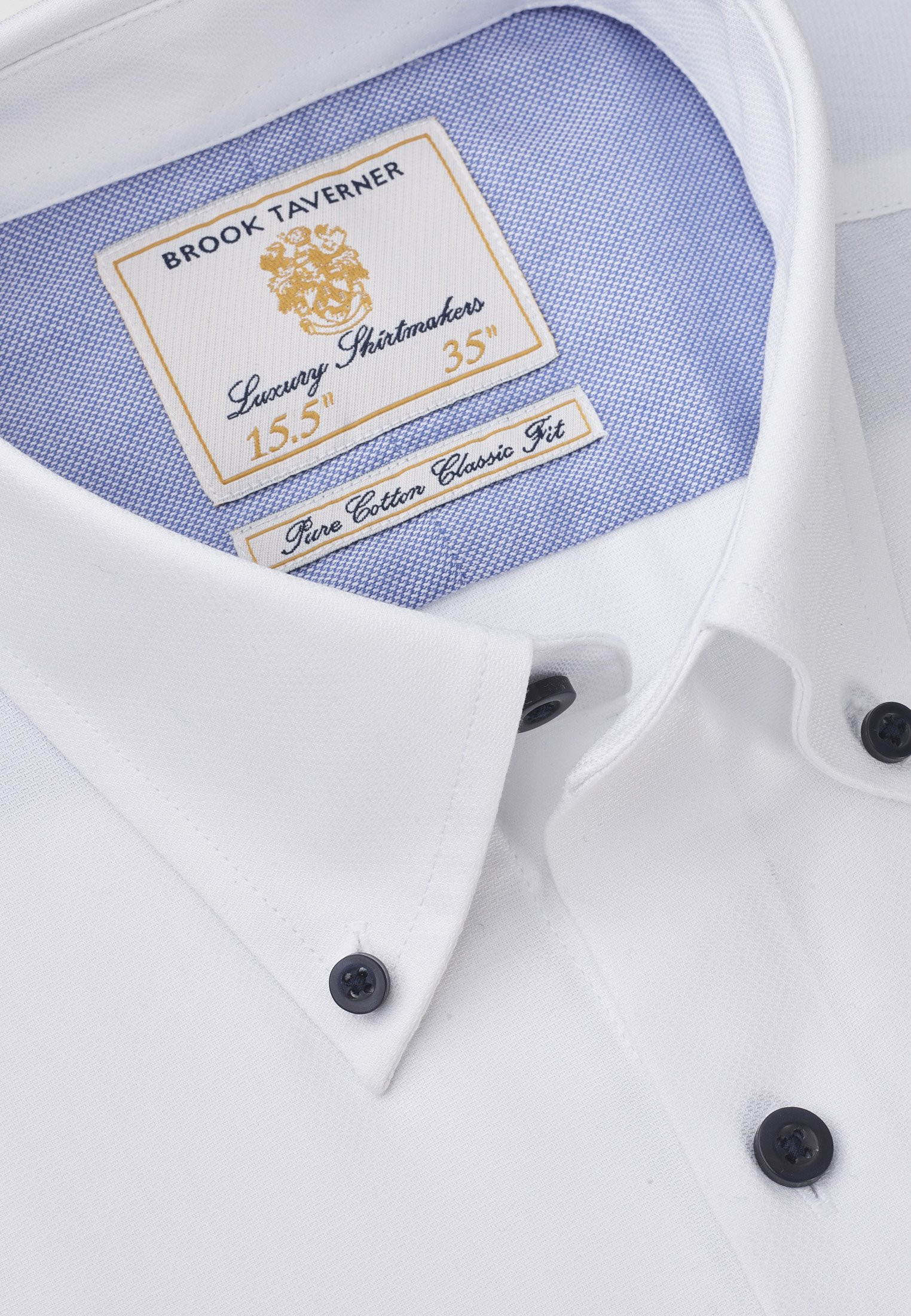 Classic and Tailored Fit Business Casual White Dobby Shirt