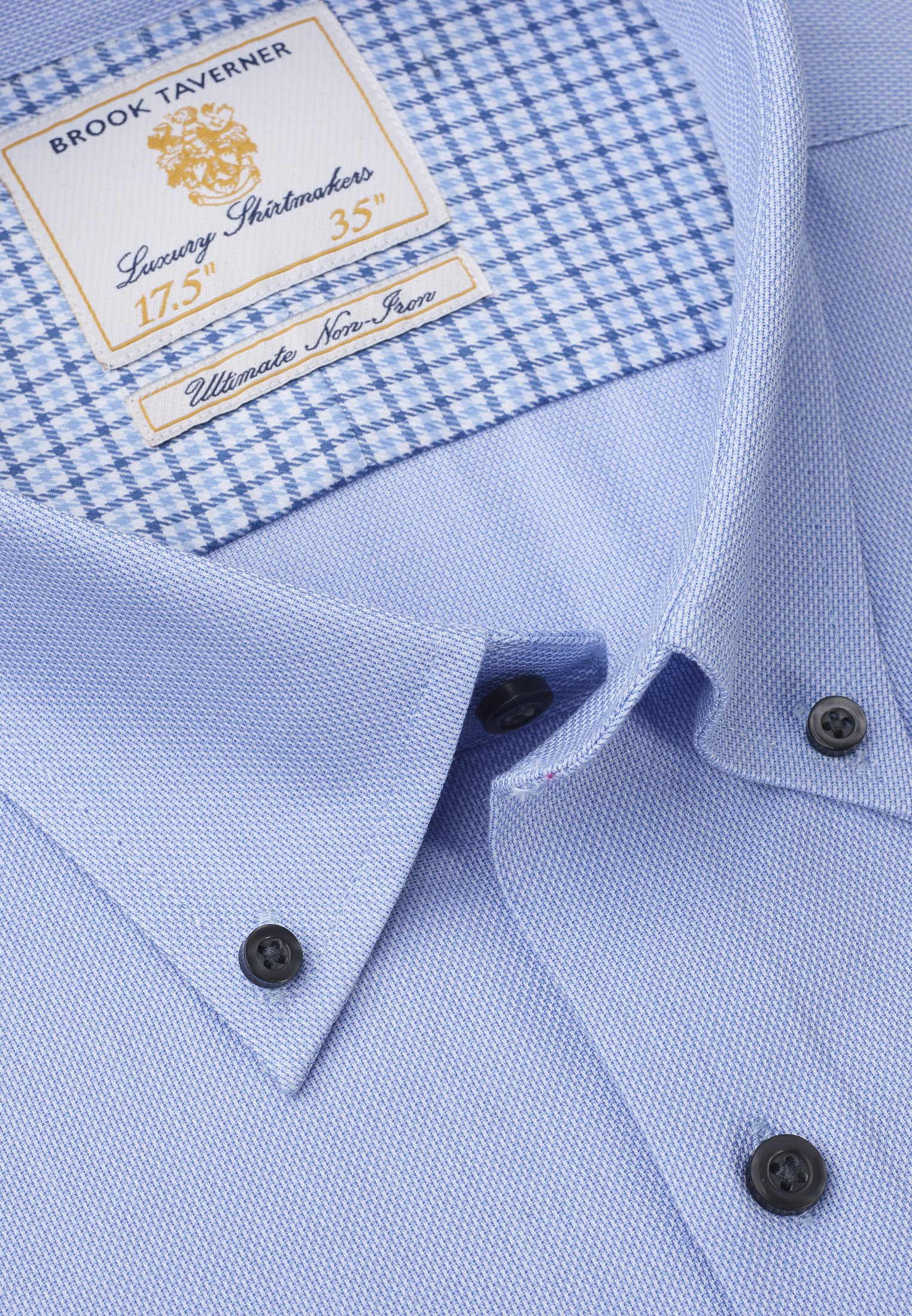 Classic and Tailored Fit Business Casual Sky Blue Dobby Shirt