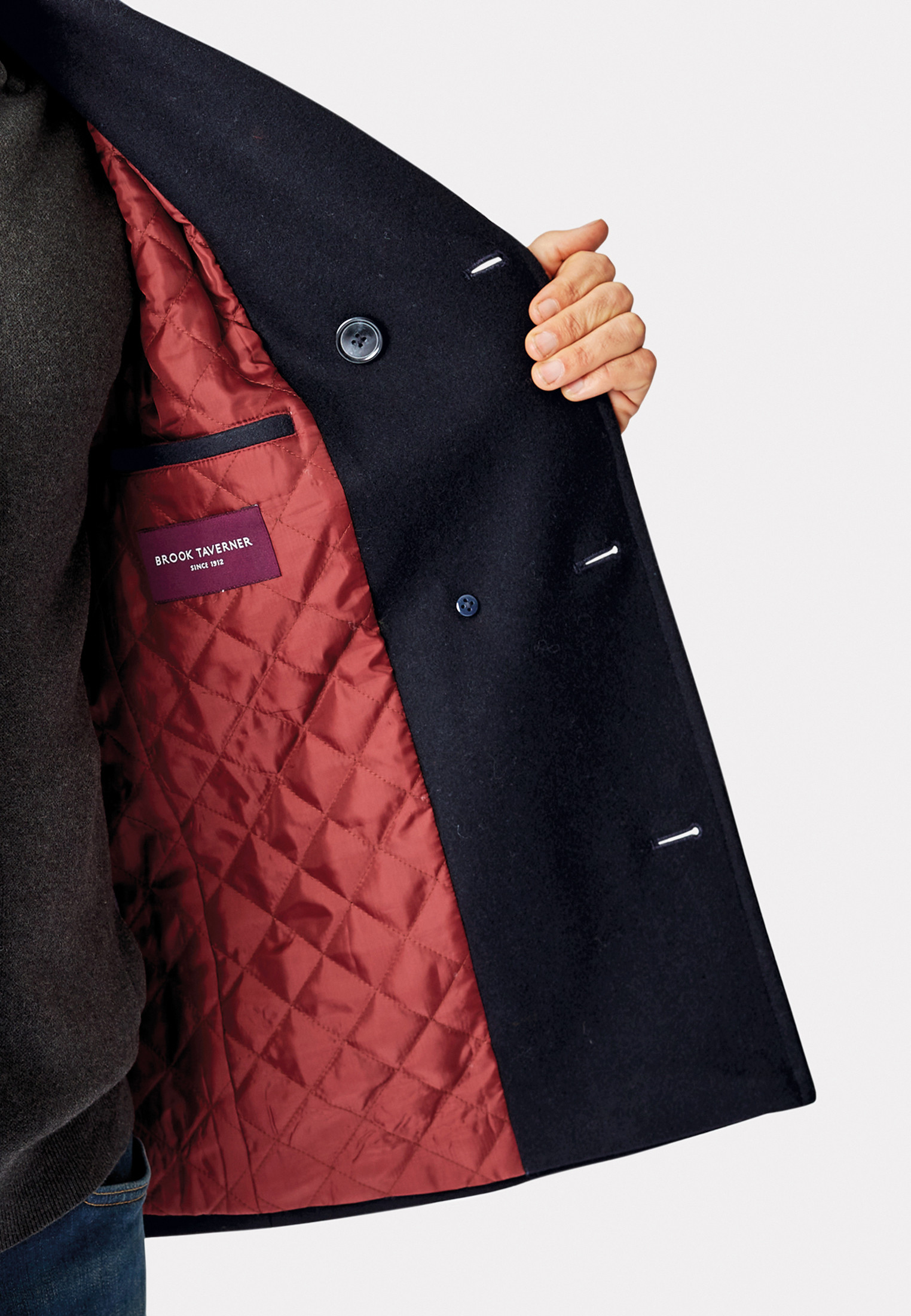 Australia Double Breasted  Reefer Coat