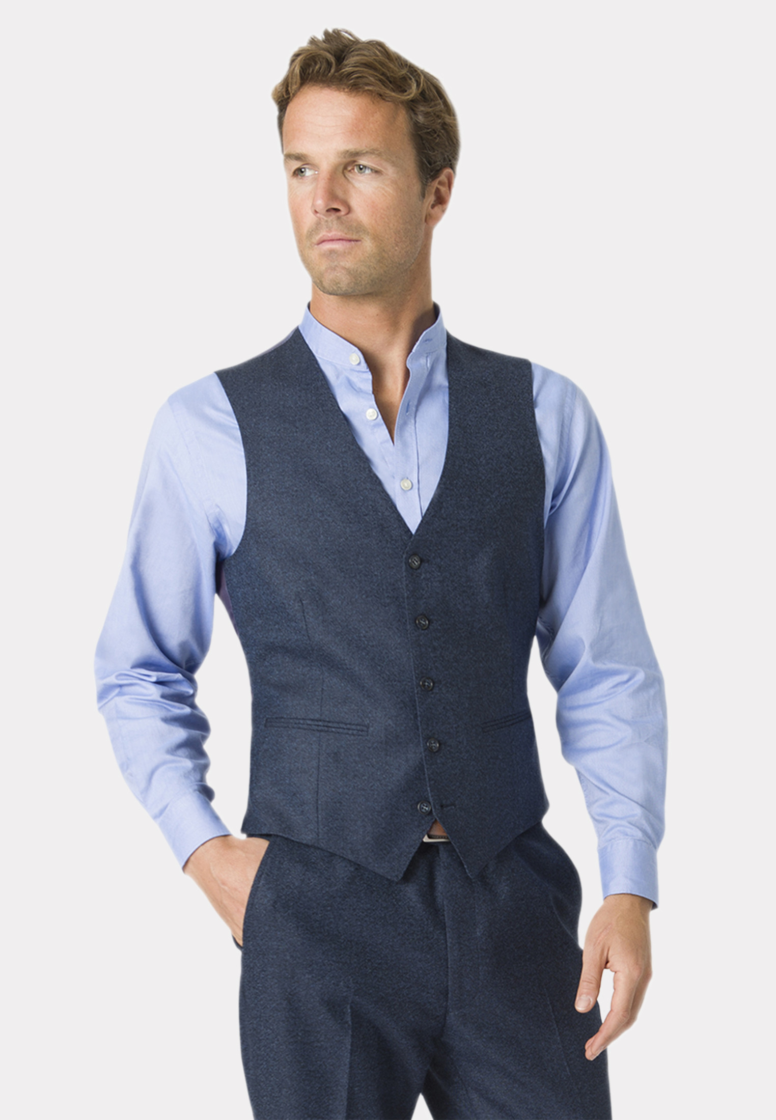 Clifford Donegal Three Piece Wool Suit - Waistcoat Optional