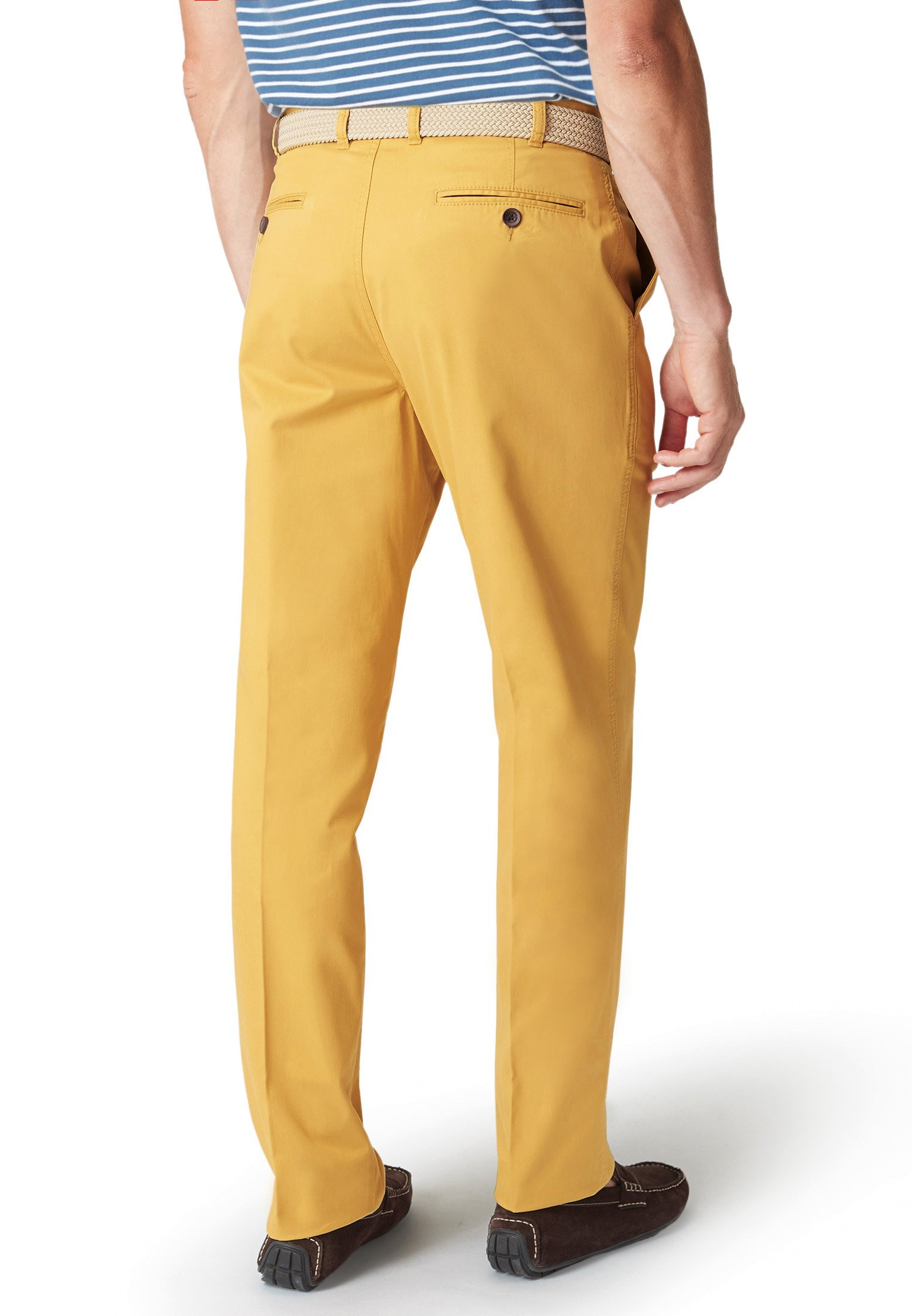 Ribblesdale Corn Tailored Fit Cotton Stretch Summer Trouser