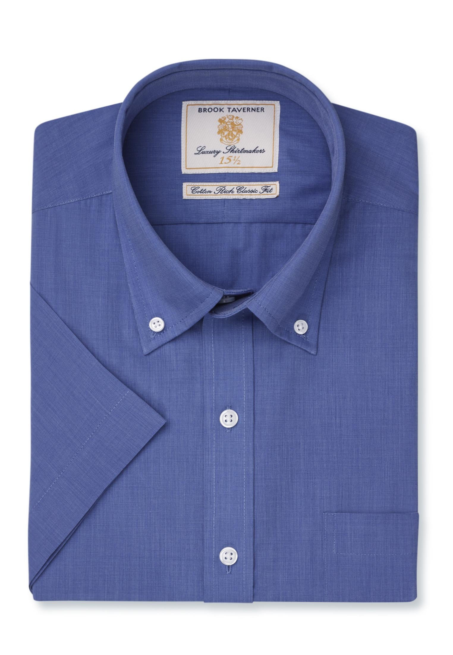 Long And Short Sleeve Marine End On End Button Down Collar Shirt
