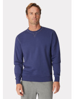 Bath Navy Garment Washed Crew Neck Sweatshirt