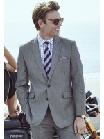 Grey Sharkskin Dawlish Suit Jacket