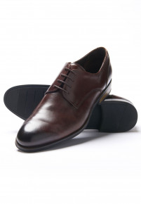 Brown Elms Shoe With Rubber Sole