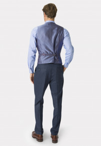 Clifford Navy Donegal Wool Suit Waistcoat